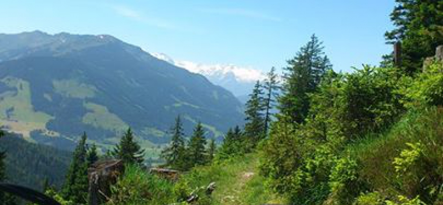 spannende route op de mountainbike in Leogang: